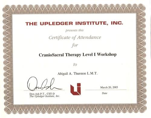 CranioSacral Therapy (CST)