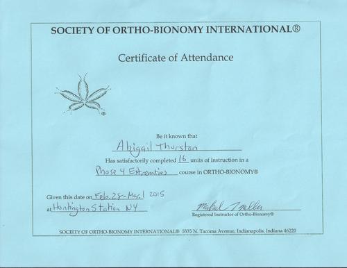 Ortho-Bionomy, Phase 4 Extremities (OB)