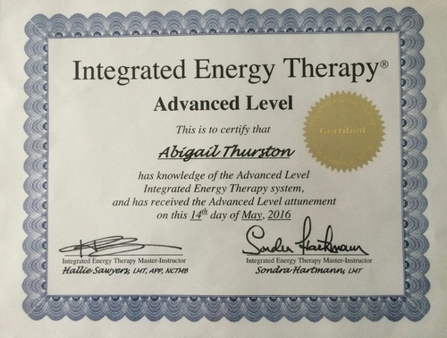 Integrated Energy Therapy (IET) Advanced Level