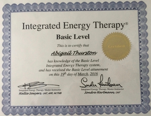 Integrated Energy Therapy (IET) Basic Level